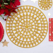 Dazzling Christmas Gold Place Mats (4)